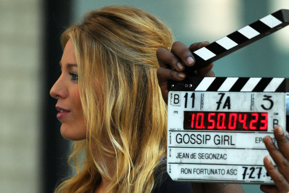 "blake lively hair gossip girl. Blake Lively films a scene with Sebastian Stan on the set of ""Gossip Girl"""