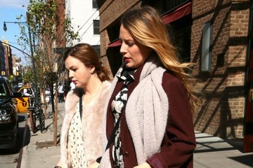 Blake Lively Pregnant Blake Lively & Amber Tamblyn Leaving Their NYC Hotel