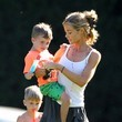 Bob Sheen Denise Richards and Kids at the Park