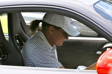 Bruce Jenner Bruce Jenner Grabs a Coffee After His Game