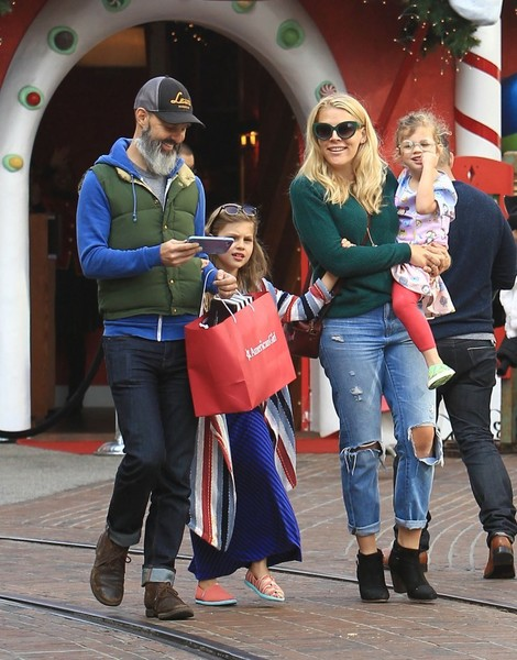 Busy Phillips and Family Holiday Shopping at The Grove