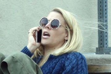 Busy Philipps Busy Phillips Chats on Her Phone in Hollywood