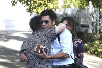 Caitlin McHugh John Stamos and Caitlin McHugh Leave a Party in Studio City