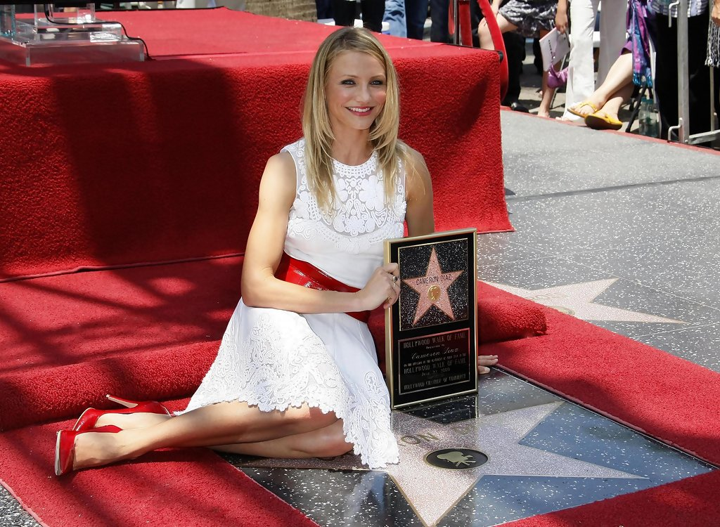 cameron diaz hollywood walk of fame ceremony zimbio