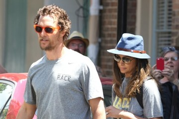 Camila Alves Matthew McConaughey Participates In Drew Brees' Amazing Race Charity Fundraiser
