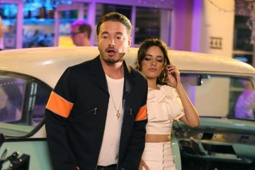 Camila Cabello J Balvin And Camila Cabello Film A Music Video In Miami