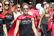 Actress Candace Cameron Bure visits the Lollipop Superhero walk event at The Grove in Hollywood, California on April 30, 2017.