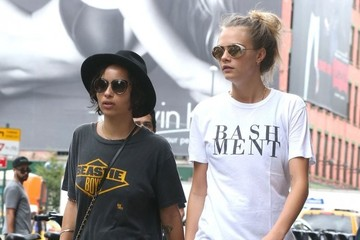 Cara Delevingne Cara Delevingne and Zoe Kravitz Out for a Stroll