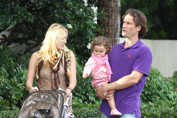 Carla Moya Carlos Moya And Family Out For Lunch