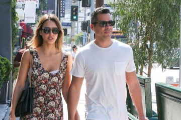 Cash Warren Jessica Alba and Cash Warren Out Shopping in West Hollywood