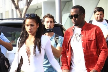 Cassie Sean Combs Sean Combs and Cassie Have Lunch in Beverly Hills
