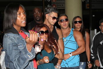 """Sammi Giancola  Ronnie Ortiz-Magro Cast Of """"Jersey Shore"""" Arriving At LAX"""