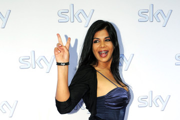 Indira Celebrities Arriving At Sky Party In Munich