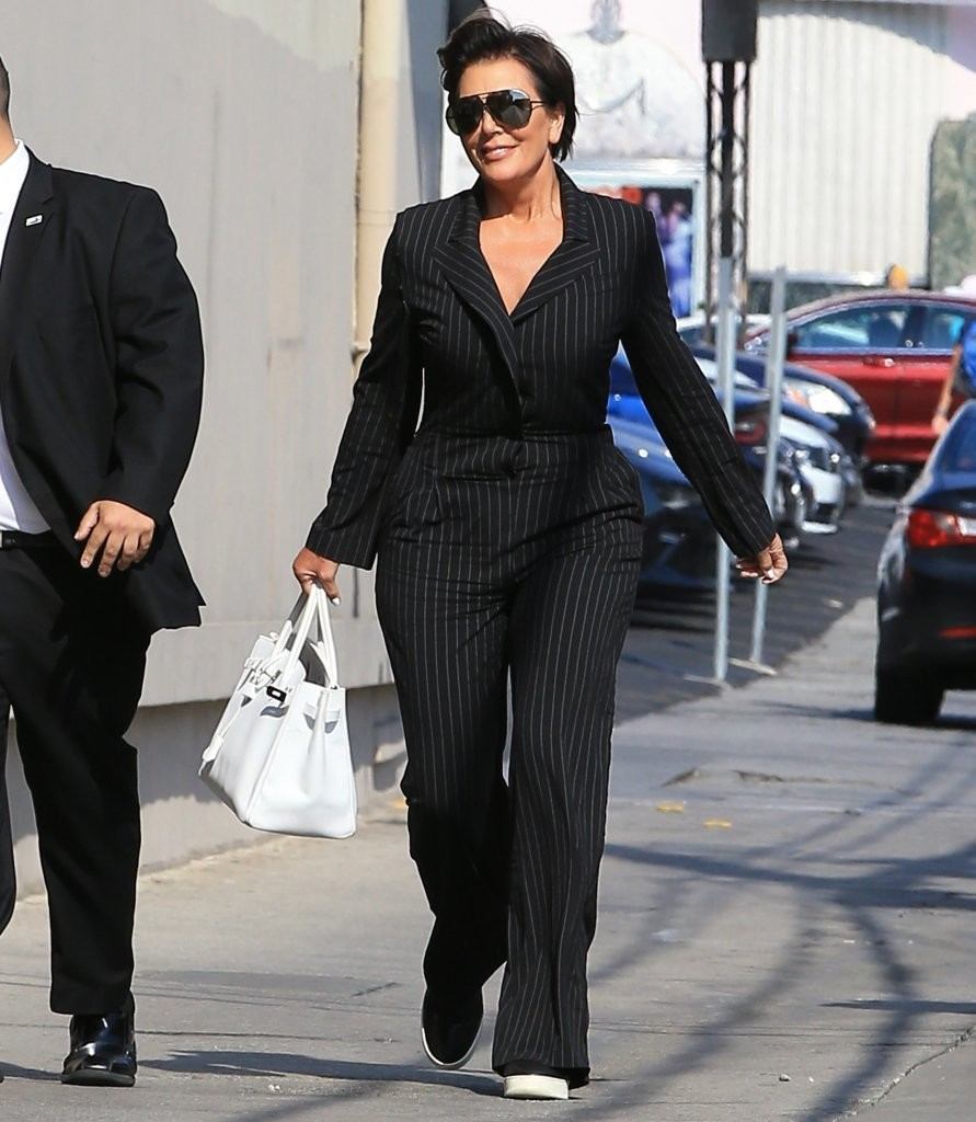 Kris Jenner Photos Photos Celebrities Visit 39 Jimmy Kimmel Live 39 Zimbio