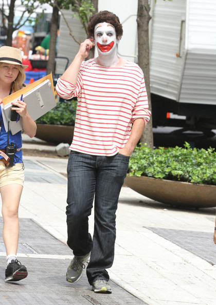 Celebrities are spotted on the set of 'The Dictator' in New York City.