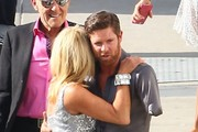 Celebrities at 'Dancing With The Stars' studios for tonights finale in Hollywood, California on May 19, 2015. Rumer's mother Demi Moore, her father Bruce Willis and his wife Emma Heming came out to watch her live.<br /> <br /> Pictured: Suzanne Somers, Noah Galloway