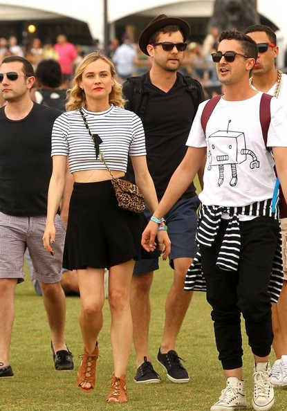 Celebrities at day 1 of the second weekend of the Coachella Music and Arts Festival in Coachella, California on April 18, 2014.<br /> <br /> Pictured: Joshua Jackson, Diane Kruger