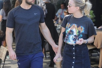 Chace Crawford Chace Crawford and Rebecca Rittenhouse Head Out for Lunch in West Hollywood