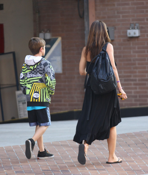 Charisma Carpenter Takes Her Son To The Doctor
