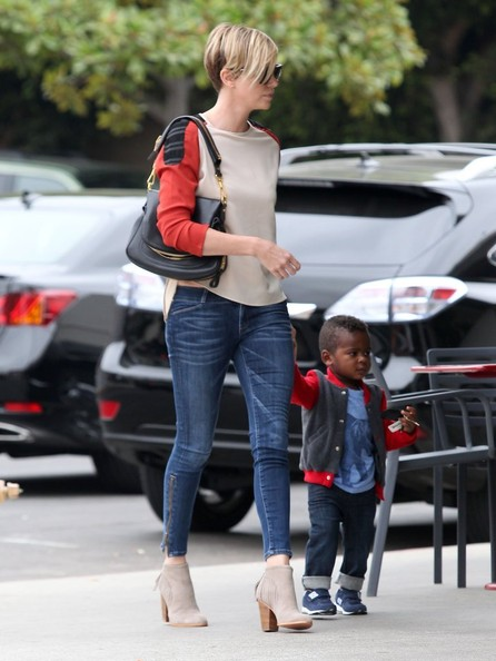 Charlize Theron in Charlize Theron Spends the Day with Her ... Charlize Theron Son