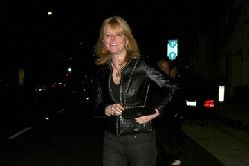 Cheryl Tiegs Celebrities Dine Out at Mr Chow