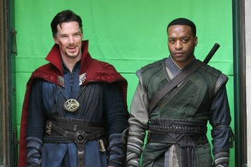 Chiwetel Ejiofor Benedict Cumberbatch and Chiwetel Ejiofor Film 'Doctor Strange' in NYC