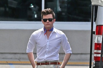 Chris Colfer 'Glee' Films at the Burbank Mall