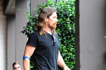 Christian Bale Christian Bale Out For Breakfast in Santa Monica