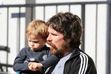 Christian Bale Christian Bale Takes His Son to Breakfast Christian Bale