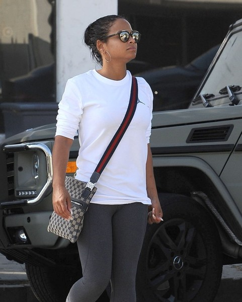Christina Milian gray G Wagon