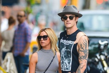 Christopher French Ashley Tisdale and Christopher French Out in NYC