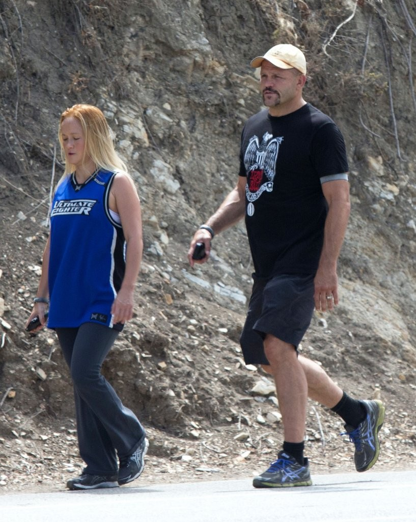 Chuck Liddell and His Wife Out Walking - Zimbio
