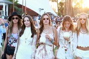 Celebrities at Day 3 of first weekend of The Coachella Valley Music and Arts Festival in Indio, California on April 11, 2015.<br /> Pictured: Alessandra Ambrosio