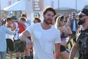 Celebrities at Day 3 of first weekend of The Coachella Valley Music and Arts Festival in Indio, California on April 11, 2015.<br /> Pictured: Patrick Schwarzenegger