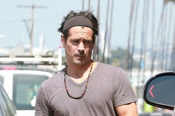 Colin Farrell Colin Farrell Leaves the Gym