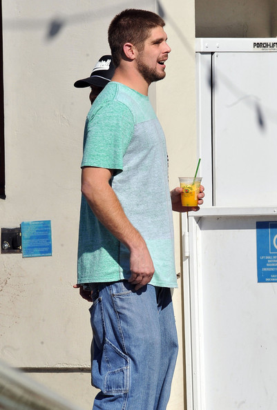 Colt Brennan Out For Lunch At Urth Caffe