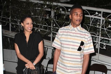 Cory Hardrict Celebs Grab Dinner at Madeo in West Hollywood