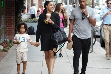 Cory Hardrict Tia Mowry Out in Beverly Hills With Her Family