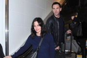 Courteney Cox and Johnny McDaid at LAX