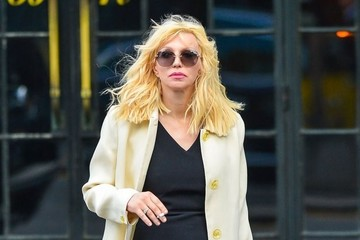 Courtney Love Courtney Leaving Her NYC Hotel