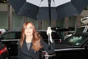 Darby Stanchfield Celebrities at Sirius Radio In NYC