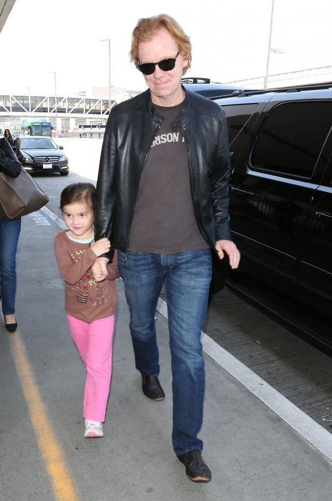 David Caruso and Paloma Caruso - David Caruso & Daughter Departing On A Flight At LAX