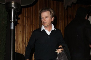 David Spade Celebrities Dine Out at the Nice Guy Restaurant
