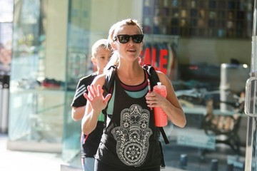 Deacon Phillippe Reese Witherspoon Hits The Gym With Her Son
