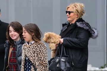 Deborra-Lee Furness Deborra-Lee Furness & Daughter Ava Leaving Their New York Apartment