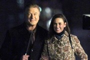 Demi Moore and Alec Baldwin Perform on the Set of 'Blind' in New York
