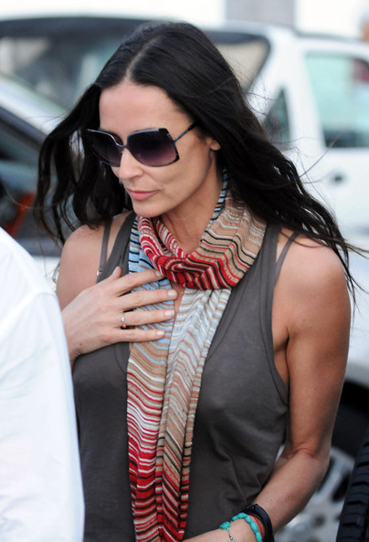 Demi Moore Out Shopping In St. Barts