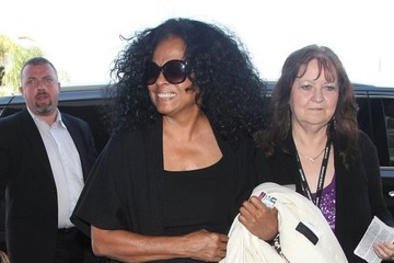 Diana Ross Diana Ross Departing On A Flight At LAX