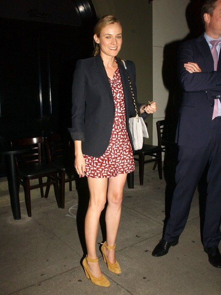 """Inglourious Basterds"" actress Diane Kruger goes out for dinner on March 14, 2013 in Los Angeles, California."