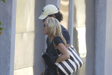 Dimitri Charalambopoulos Camille Grammer And Boyfriend Dimitri Heading To A Friends Party